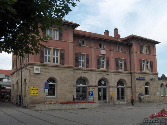 Marbach: Bahnhof