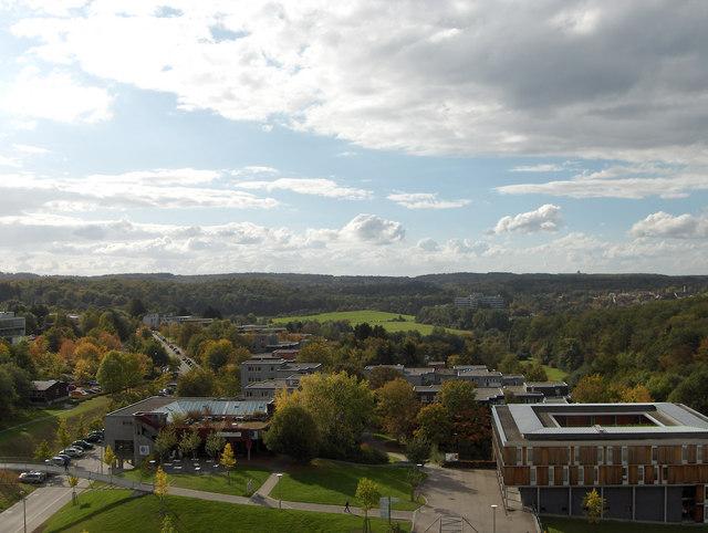 Vaihingen: Blick von der Universität über die Wohnheime zu den Max-Planck-Instituten