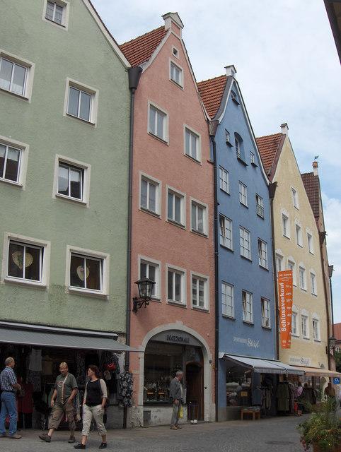Häuserzeile in Füssen