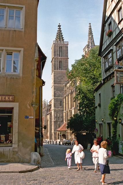 Kirchplatz, Rothenburg o.d. Tauber