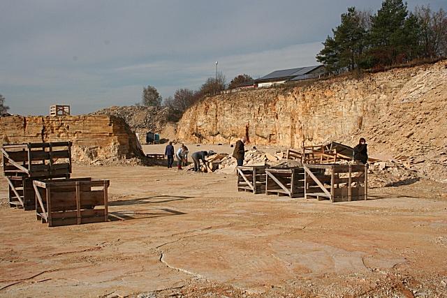 Plattenkalksteinbruch bei Schernfeld