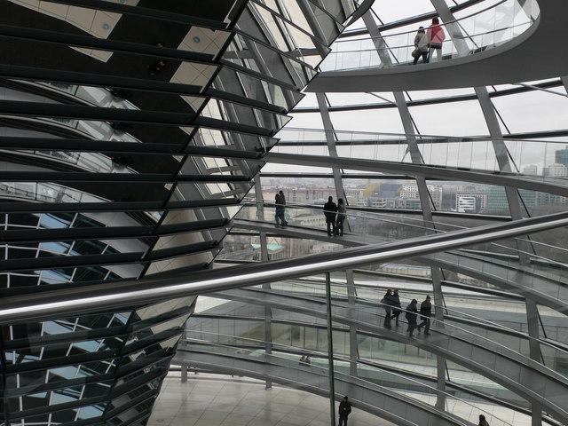 In der Kuppel des Reichstags