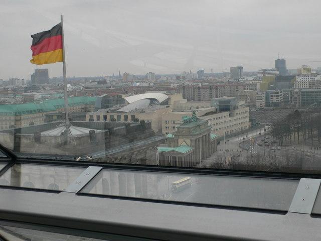 Ein Blick auf Berlin von der Kuppel des Reichstag