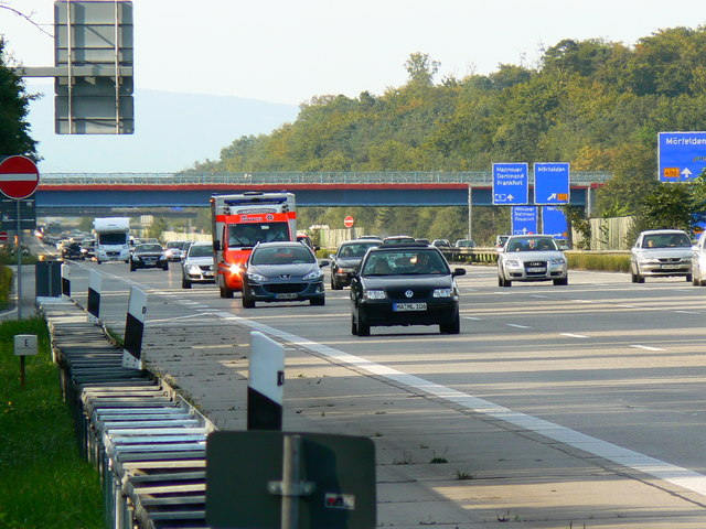 Autobahn 5 Blick nach Norden (Autobahn 5 looking north)