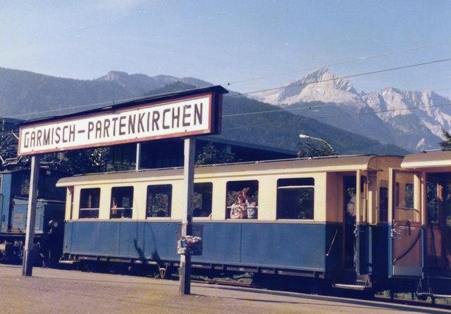 Zugspitze von der Zugspitzbahn in Garmisch-Partenkirchen