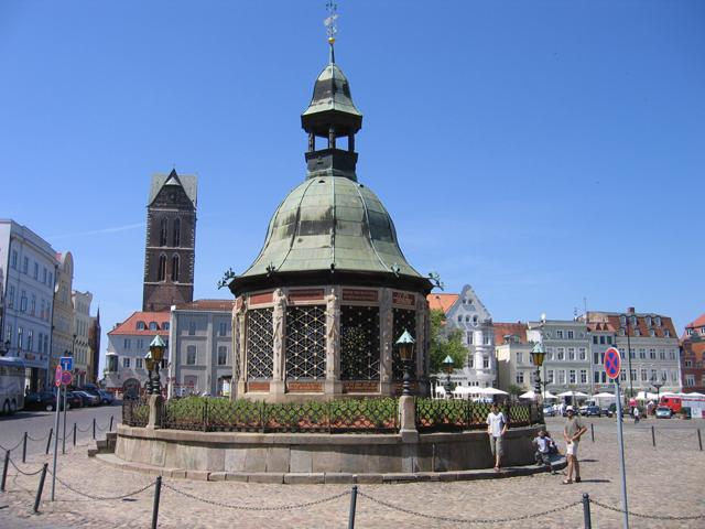 Wasserkunst, Marktplatz, Wismar