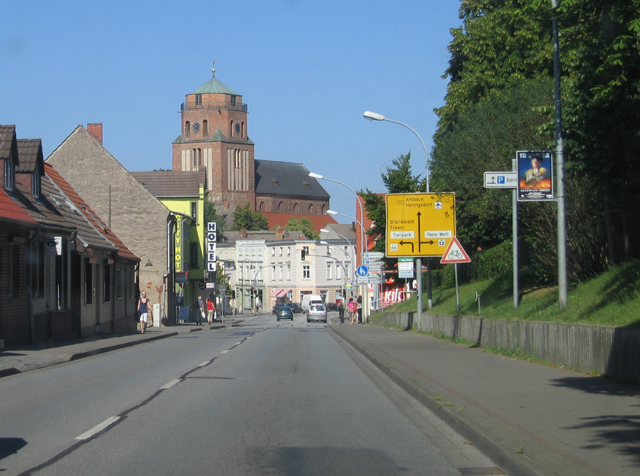 Chausseestraße & St Petri Kirche, Wolgast