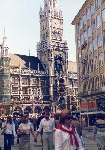 Neues Rathaus am Marienplatz, 1978