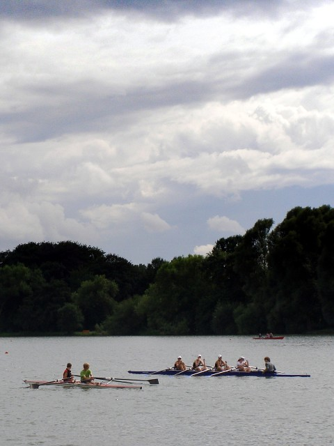 Rowing on the Maschsee
