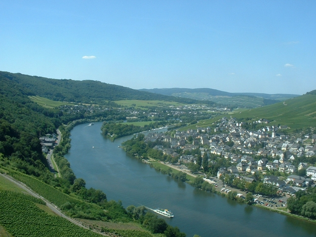 Mosel - Bernkastel vom Berg Landshut