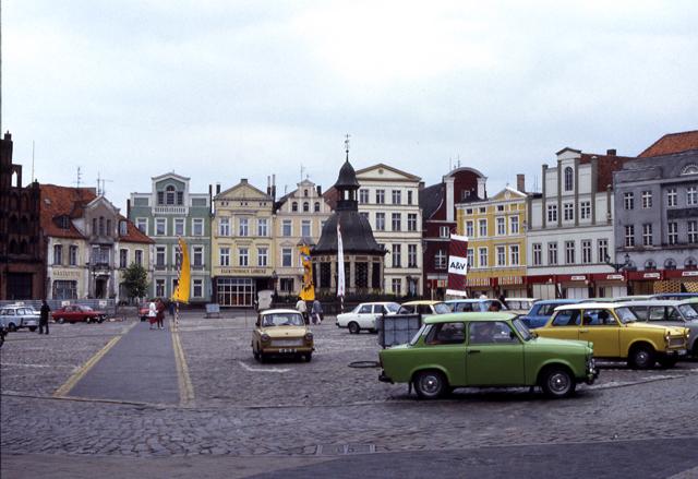 Marktplatz, Wismar, DDR