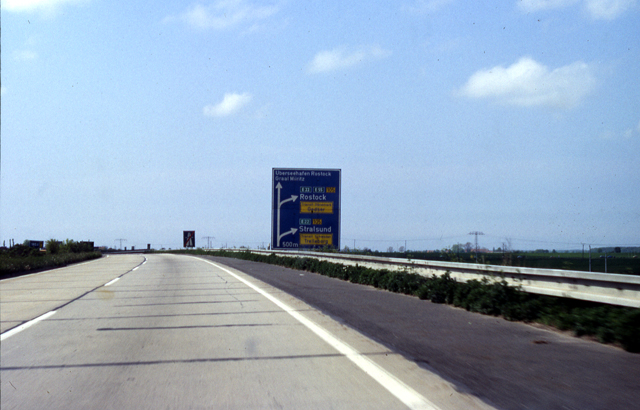 Empty motorway approaching Rostock
