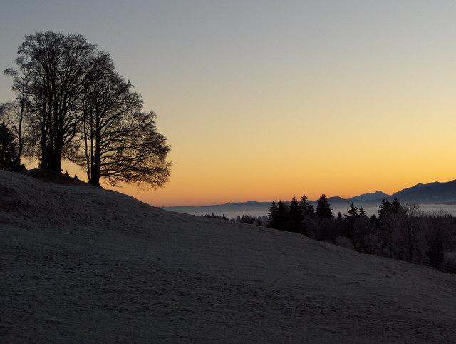 Wintermorgen auf dem Sulzberg