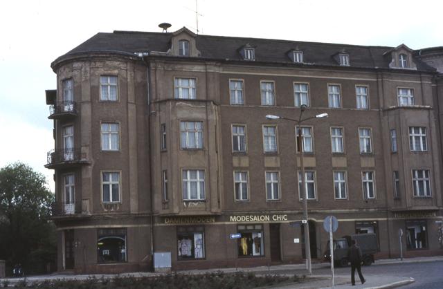 Der Mundtshof, Schicklerstraße, Eberswalde-Finow, DDR