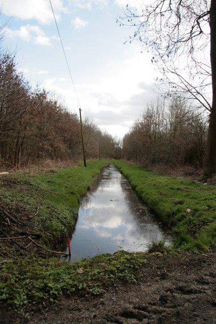 Entwässerungsgraben im Hülser Bruch