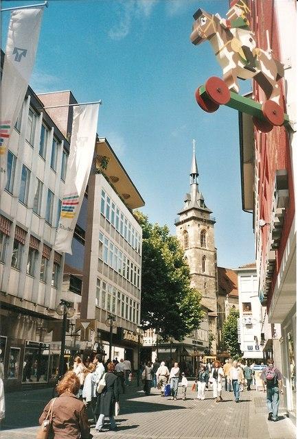 Fussgaengerzone, Stuttgart
