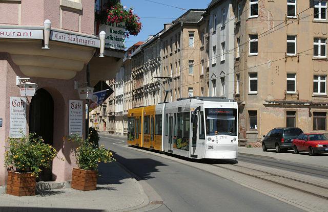 Gera, Leibnitzstrasse, ecke Cubaerstrasse