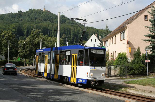 Biesnitz, Strassenbahn
