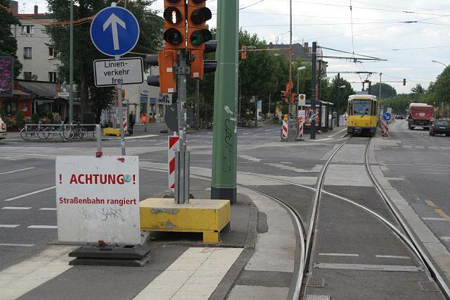 Vorläufige Endhaltestelle Adlershof