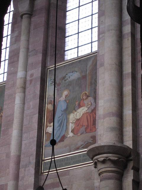Ein Gemalde im inneren des Speyer Doms