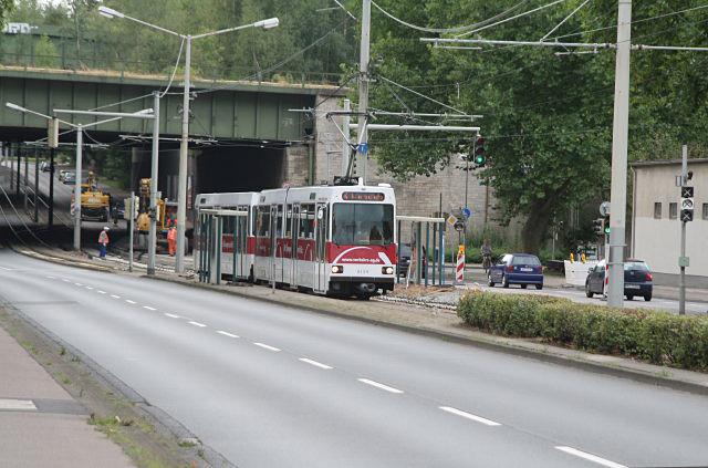 Gleisarbeiten in der Wolfenbüttlerstrasse.