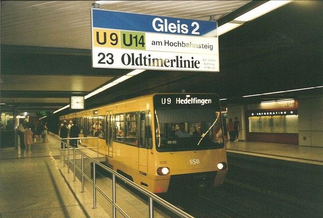 Strassenbahn, Stuttgart Hbf