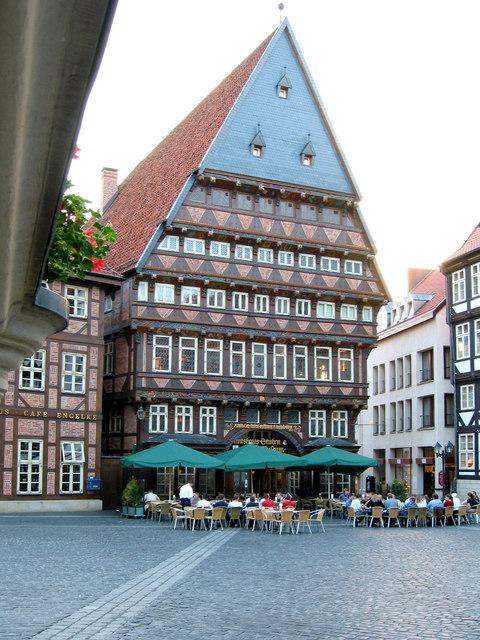 The square at Hoken Markt, Hildesheim