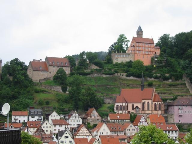 Hirschhorn Schloss und Kirche