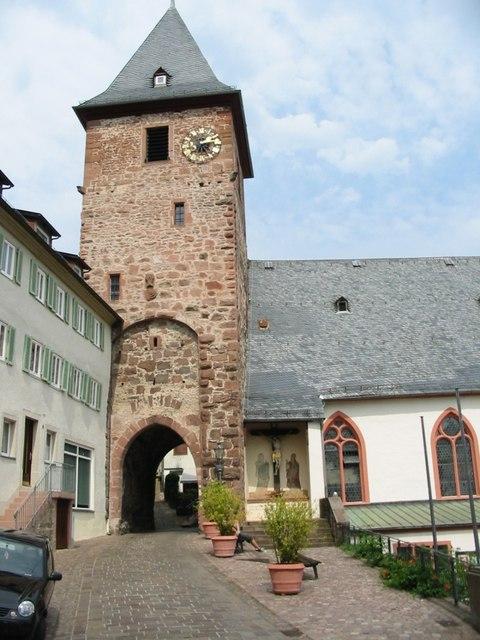 Eingang auf Hautpstraße, Hirschhorn