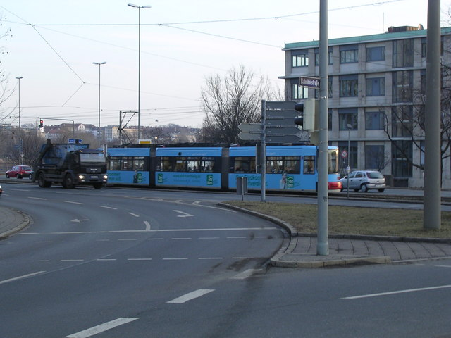 Straßenbahn in der Dürrenhofstraße, Nürnberg (Public Transport in Nurnberg)