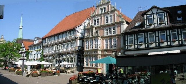 Panorama von Osterstraße und von Museum Hameln