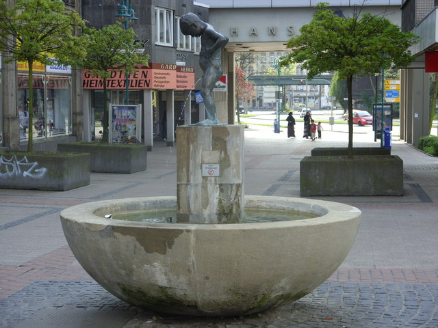 Fountain at U-Bahn entrance