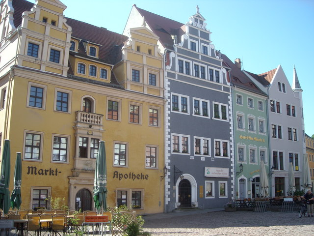 Shops in the Market Place, Meissen