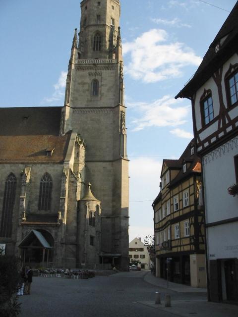 """St. Georgskirche mit Kirchturm """"Daniel"""", Marktplatz"""