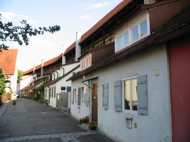 Straßenszene, An der Bergermauer,  Nördlingen