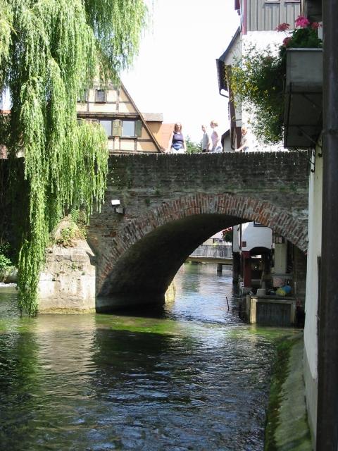 Brücke über dem Fluss Blau, Ulm