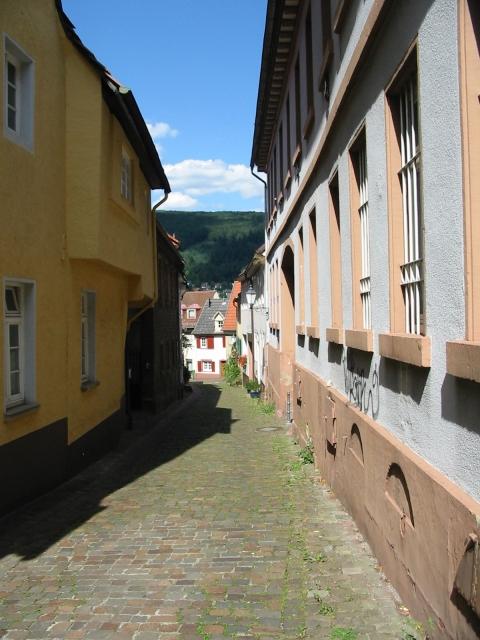 Kleine Straße nahe dem Marktplatz,  Neckargemünd