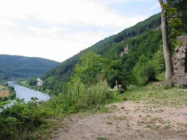 Schloss auf dem Hügel, Neckar-Tal