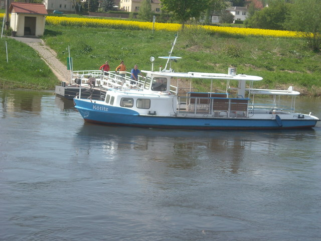 Elbfähre Gauernitz - Kötitz (The Ferry at Kötitz.)