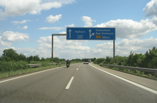 Approaching junction 11