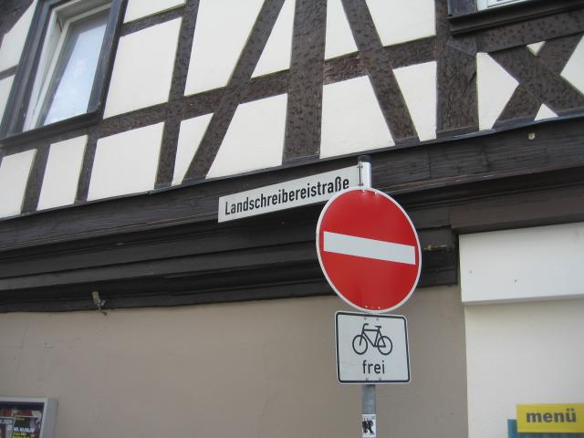 Landschreibereistraße (No entry)