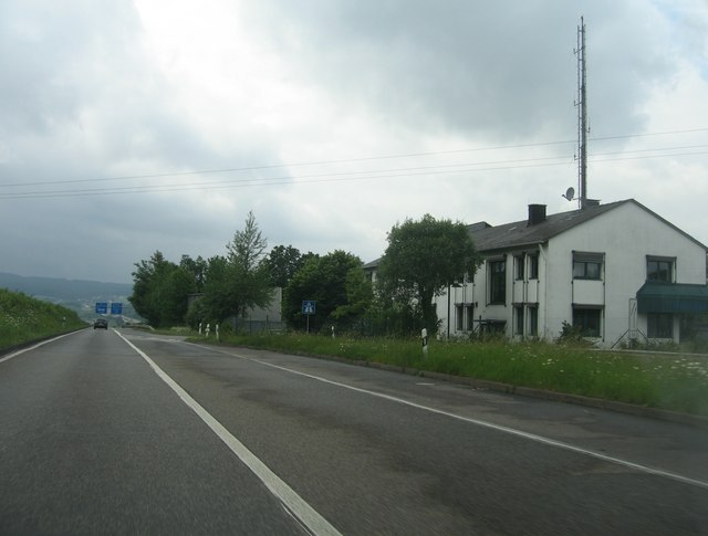Buildings on the slip road