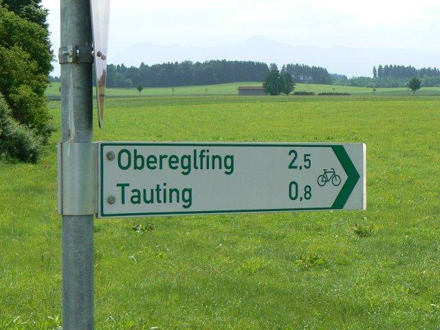 Fahrradweg Schild