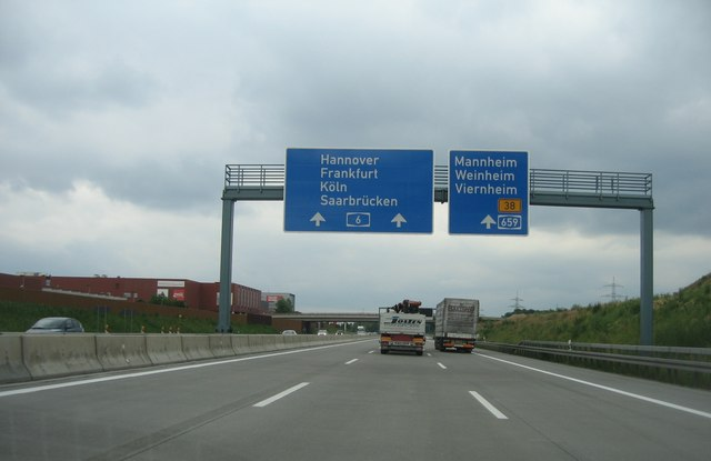 Approaching Viernheim junction 26