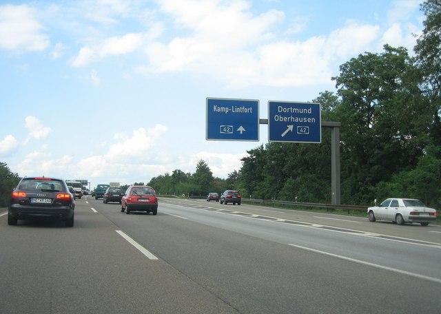 A42/A3 - Oberhausen / Kamp-Lintfort
