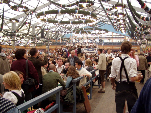 The Munich Oktoberfest inside