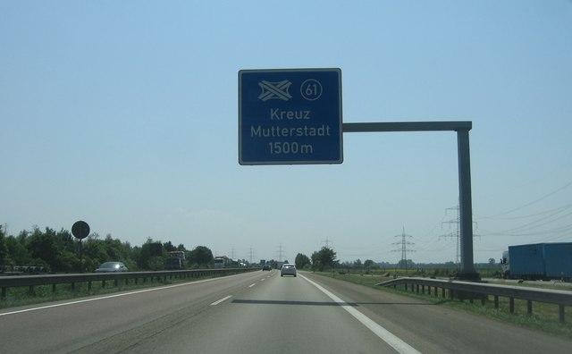 (A61) Kreuz Mutterstadt - 1500m