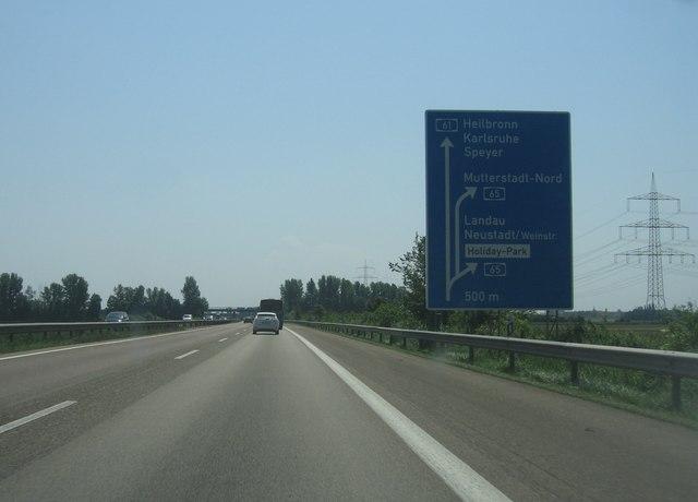 Autobahnkreuz 61/65 bei Landau