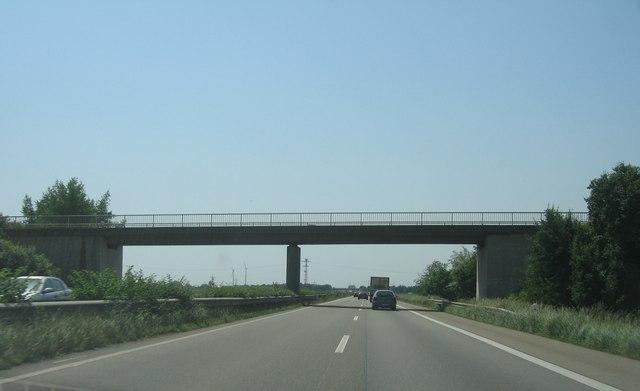 Bridge over the A65