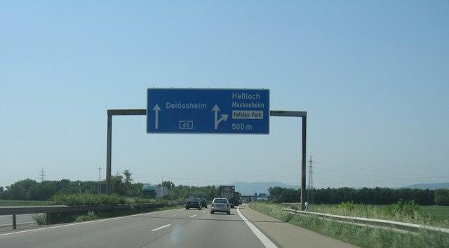 Autobahnkreuz 650/L530 bei Haßloch